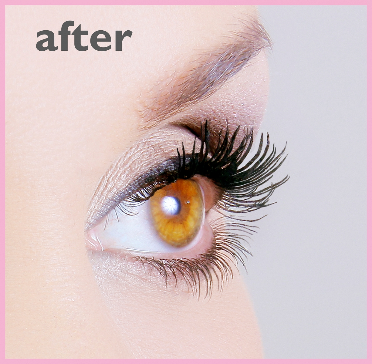 Lashes in a bottle AFTER