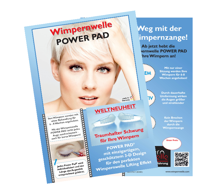 KUNDENFLYER WIMPERNWELLE POWER PAD
